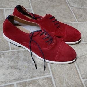 Red Suede ALDO Oxfords